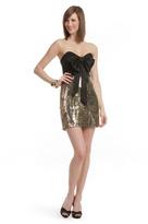Mark & James by Badgley Mischka Metallic Confetti Bow Dress
