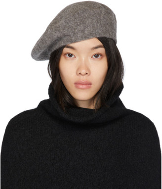 LAUREN MANOOGIAN Grey Horizontal Beret