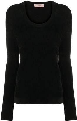 Twin-Set Long-Sleeve Fitted Jumper