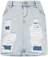 Faith Connexion distressed denim mini skirt