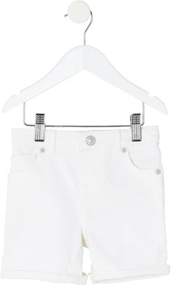 River Island Mini Boys Denim Shorts -White