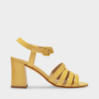 Maryam Nassir Zadeh Palma Strappy Sandals In Yellow Suede