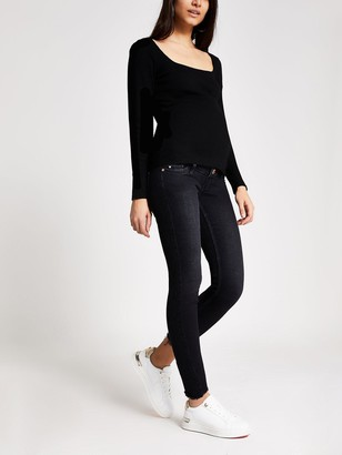 River Island Maternity Over Bump Amelie Skinny Jeans - Black