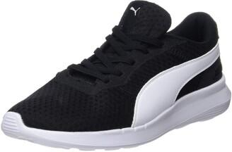 Puma Kids' ST Activate AC PS Sneakers Black Black White 31 EU 12UK