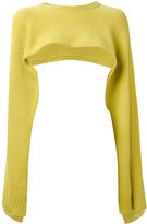 Valentino flare-sleeve cropped sweater - women - Cashmere - S