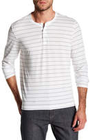 Kenneth Cole New York Moisture Wicking Long Sleeve Stripe Henley