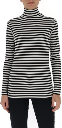 Burberry Striped Turtleneck Long Sleeve T-Shirt