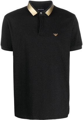 Emporio Armani Metallic Collar Polo Shirt