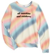 Wildfox Couture Girl's Sunshine & Rainbows Pullover