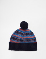 Original Penguin Fairisle Wool Bobble Hat