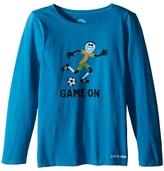 Life is Good Elemental Game On Soccer Long Sleeve Tee (Little Kids/Big Kids)