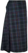 Cédric Charlier checked asymmetric skirt - women - Virgin Wool/other fibers - 38