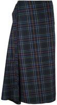 Cédric Charlier checked asymmetric skirt