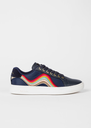 Paul Smith Women's Navy 'Lapin' Trainers With 'Swirl' Embroidery