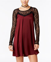 Material Girl Juniors' Slip Dress with Lace Top, Only at Macy's