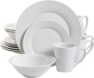 Gibson Zen Buffet Round Dinnerware Set Service for 4 (16pcs)