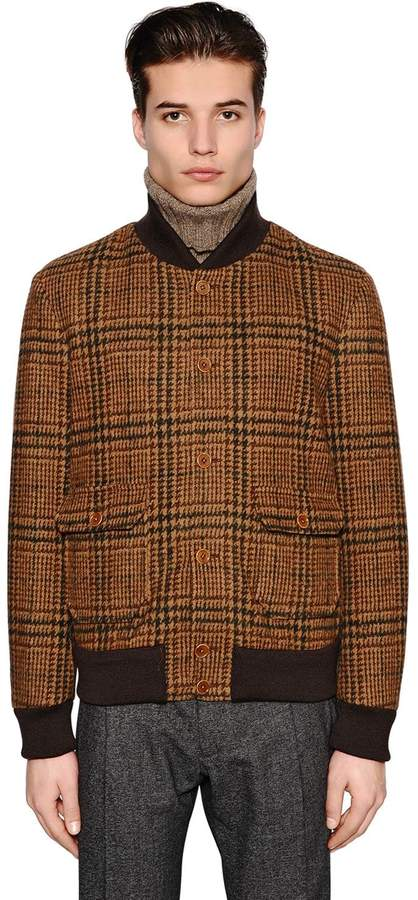 Lardini Cotton Wool Blend Jersey Bomber Jacket