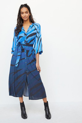 Azure Maxi Shirtdress By Conditions Apply in Blue Size 0