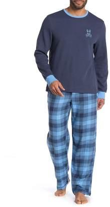 Psycho Bunny Brights Lounge Long Sleeve Shirt & Pants Pajama 2-Piece Set