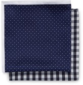 Jeff Banks Brit Twin Pocket Square