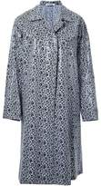 Jil Sander flower print single-breasted coat