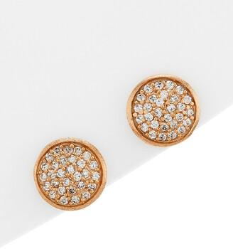 Rivka Friedman 18K Rose Gold Clad Simulated Diamond Studs