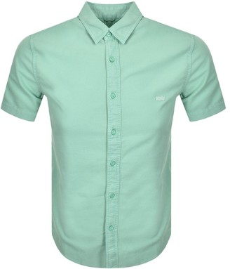 Levi's Levis Battery Slim Fit Short Sleeved Shirt Green