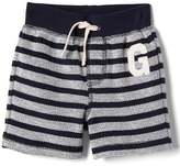 Logo stripe terry shorts