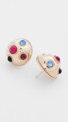Anton Heunis Post Half Sphere Earrings