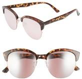 BP Women's 54Mm Round Cat Eye Sunglasses - Tort/ Rose Gold