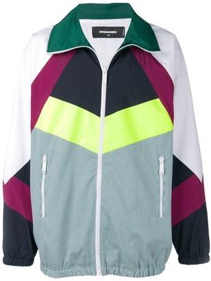 DSQUARED2 Colourblock Check Track Jacket