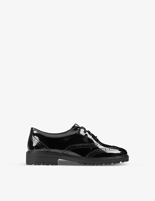 Clarks Loxham Brogue Youth patent-leather derby brogues 9-12 years
