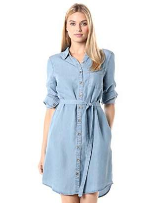 Daily Ritual Tencel Long-Sleeve Shirt Dress Casual,XL