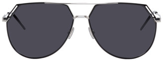 Christian Dior Silver and Black DiorRiding Sunglasses