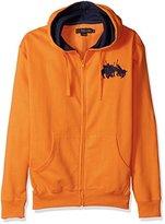U.S. Polo Assn. Men's Long Sleeve Zip Front Hoody with Team Logo