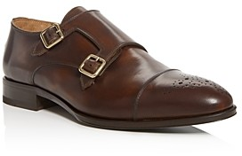 Pastori Men's Romulus Leather Double Monk-Strap Loafers