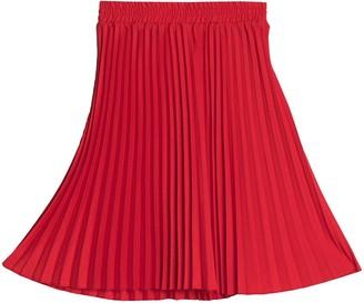 T Tahari Pleated Midi Skirt (Petite)