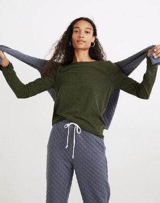 Madewell Whisper Cotton Rib-Crewneck Long-Sleeve Tee