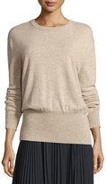 Vince Cashmere Cutout-Back Blouson Sweater