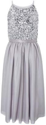 Monsoon Truth Spot Dress - Silver
