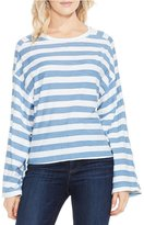 Vince Camuto Long Sleeve Wide Stripe Lydia Tee