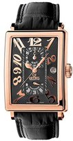 Gevril Men's 5121 Rose Gold Avenue of Americas Automatic GMT Watch
