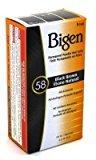 Bigen Powder Hair Color #58 Black Brown .21 oz. (Case of 6)