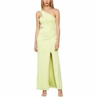 BCBGMAXAZRIA Women's Asymmetric Satin Cutout Gown
