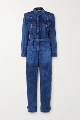 Stella McCartney Acid-wash Denim Jumpsuit - Blue