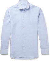 Caruso Penny-Collar Linen Shirt