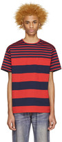Kidill Red and Navy Striped T-shirt