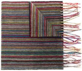 Paul Smith Fringed Striped Scarf