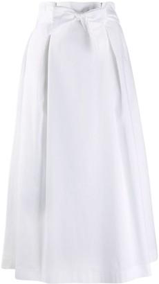 Peserico Tie-Fastening High-Waist Skirt