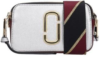 Marc Jacobs Snapshot Shoulder Bag In Silver Leather